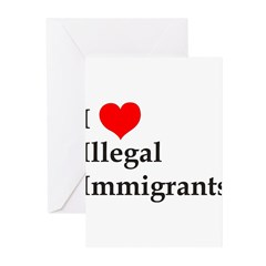 I Love Illegals Greeting Cards (Pk of 10)
