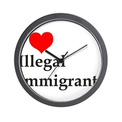 I Love Illegals Wall Clock