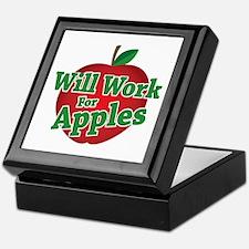 Will Work For Apples Keepsake Box