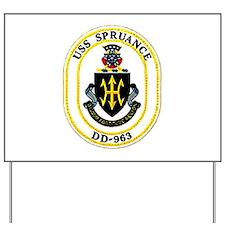 USS Spruance DD-963 Navy Ship Yard Sign