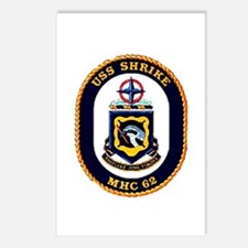 USS Shrike MHC-62 Navy Ship Postcards (Package of
