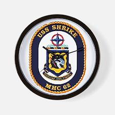 USS Shrike MHC-62 Navy Ship Wall Clock