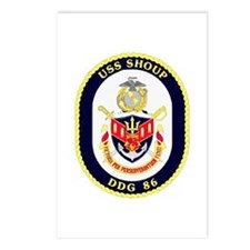 USS Shoup DDG-86 Navy Ship Postcards (Package of 8