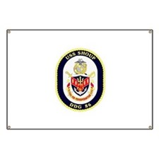 USS Shoup DDG-86 Navy Ship Banner