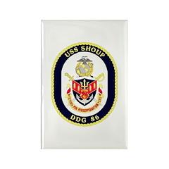 USS Shoup DDG-86 Navy Ship Rectangle Magnet (10 pa