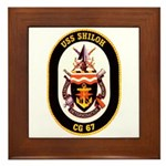 USS Shiloh CG-67 Navy Ship Framed Tile