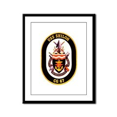 USS Shiloh CG-67 Navy Ship Framed Panel Print