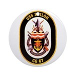 USS Shiloh CG-67 Navy Ship Ornament (Round)