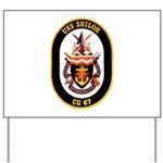 USS Shiloh CG-67 Navy Ship Yard Sign