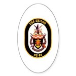 USS Shiloh CG-67 Navy Ship Oval Sticker (10 pk)