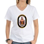 USS Shiloh CG-67 Navy Ship Women's V-Neck T-Shirt