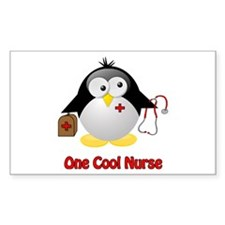 One Cool Nurse Rectangle Decal