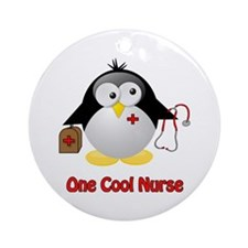 One Cool Nurse Ornament (Round)