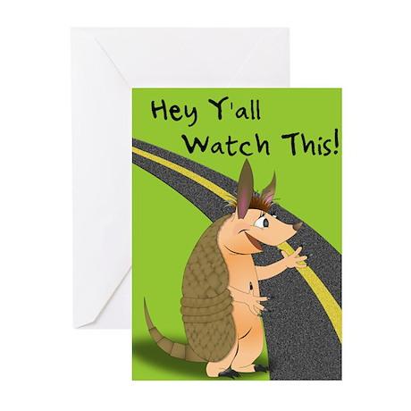Armadillo Greeting Cards (Pk of 10)