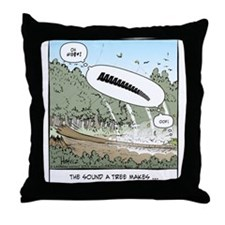Cute Logging Throw Pillow