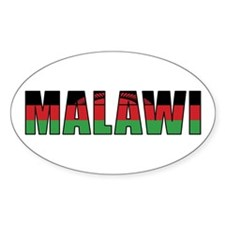 Malawi Oval Decal