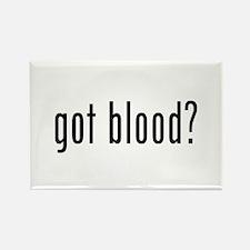 """Got Blood?"" Rectangle Magnet"