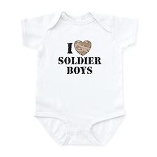 I Love Soldier Boys Infant Creeper
