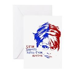 Sarah Supports Partial-Term A Greeting Cards (Pk o