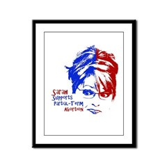 Sarah Supports Partial-Term A Framed Panel Print