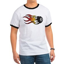 Flaming Eight Ball T