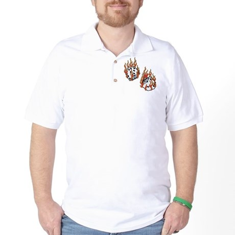 Flaming Dice Golf Shirt