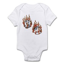 Flaming Dice Infant Bodysuit
