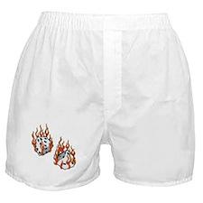 Flaming Dice Boxer Shorts