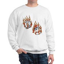 Flaming Dice Sweatshirt