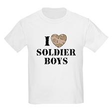 I Love Soldier Boys Kids T-Shirt
