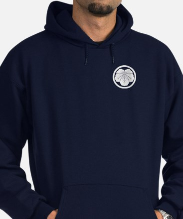 Unique Mukogawa family crest Hoodie (dark)