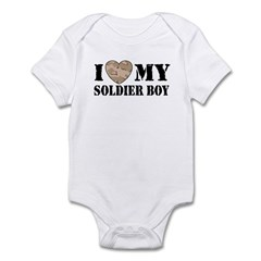 I Love My Soldier Boy Infant Creeper