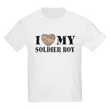 I Love My Soldier Boy Kids T-Shirt