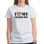 I Love My Soldier Boy Women's T-Shirt