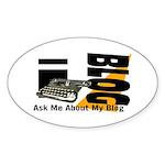 iblog Oval Sticker