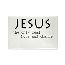 Jesus: the only real HOPE and Rectangle Magnet