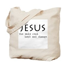 Jesus: the only real HOPE and Tote Bag