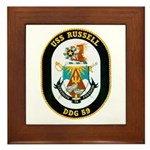 USS Russell DDG-59 Navy Ship Framed Tile