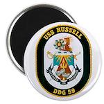 USS Russell DDG-59 Navy Ship Magnet