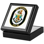 USS Russell DDG-59 Navy Ship Keepsake Box