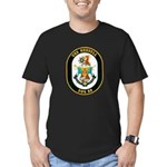 USS Russell DDG-59 Navy Ship Men's Fitted T-Shirt