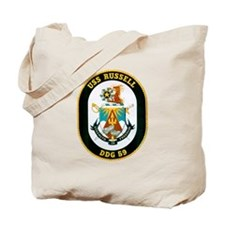 USS Russell DDG-59 Navy Ship Tote Bag