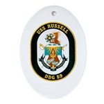 USS Russell DDG-59 Navy Ship Oval Ornament