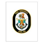 USS Russell DDG-59 Navy Ship Small Poster
