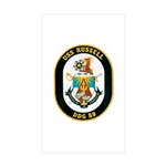 USS Russell DDG-59 Navy Ship Rectangle Sticker 50