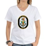 USS Russell DDG-59 Navy Ship Women's V-Neck T-Shir