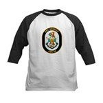 USS Russell DDG-59 Navy Ship Kids Baseball Jersey