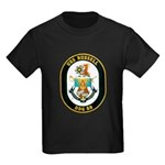 USS Russell DDG-59 Navy Ship Kids Dark T-Shirt