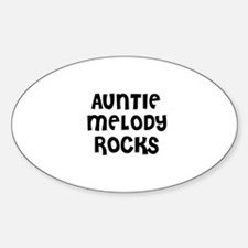 AUNTIE MELODY ROCKS Oval Decal