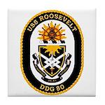 USS Roosevelt DDG-80 Navy Ship Tile Coaster